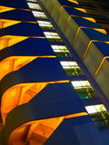 Modern Architecture. Night view of a modern building with a different perspective royalty free stock image