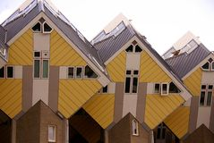 Modern architecture. Yellow cube houses in rotterdam, the Netherlands stock photo