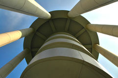 Modern Architecture. Tower with skyward perspective stock photos