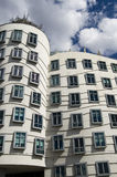 Modern Architecture. Modern building called the Dancing House (or Fred and Ginger) in Prague, Czech Republic Stock Image