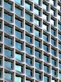 Modern architecture. Building detail with square windows stock images