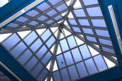 Modern architecture. A pyramidal dormer of a modern architecture royalty free stock photography