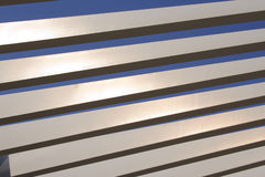 Modern Architecture. Detail of Modern Architecture elements over blue sky Royalty Free Stock Images