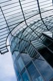 Modern Architecture. Glass and metal - high-tech background Royalty Free Stock Photo