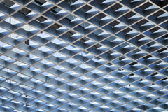 Modern architecture abstract background. With metal cellular ceiling Stock Image