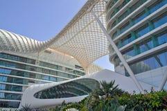 Modern architecture in Abu Dhabi, United Arab Emirates Stock Photo