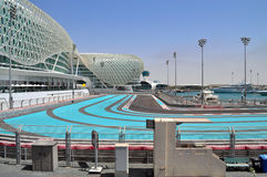 Modern architecture in Abu Dhabi, United Arab Emirates Royalty Free Stock Photo