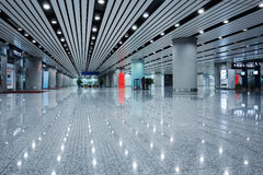 Modern architecture in the airport terminal Stock Photography