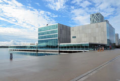 Modern architecture in Almere, Holland Royalty Free Stock Images