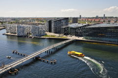 Free Modern Architecture And Watertaxi At The Bridge, Sydhavn, Copenhagen Stock Photos - 57791823