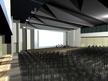 Modern architecture auditorium. Visualisation: the modern architecture auditorium vector illustration