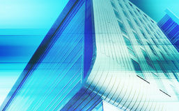 Modern architecture background. With blue grid techno style layered effect vector illustration