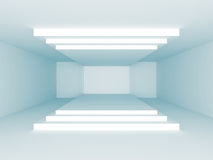 Modern Architecture Background. Empty Room Interior. 3d Render Illustration Royalty Free Stock Photo