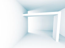 Modern Architecture Background. Empty White Interior. 3d Render Illustration Royalty Free Stock Photos