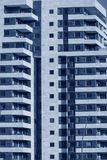 Modern Architecture background - generic High rise apartment bui. Lding front view with balcony facade.Conceptual image for Urban development theme,construction Stock Images