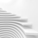 Modern Architecture Background. White Circular Construction. Modern Architecture Background. 3d Rendering. Creative Web Wallpaper Stock Image