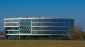 Modern architecture of the Barco building in the Benelux park, Courtrai, Belgium Royalty Free Stock Photo
