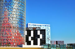 Modern architecture of Barcelona, Spain Stock Photos