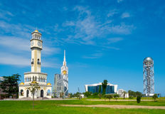 Modern architecture in Batumi Royalty Free Stock Photo