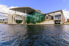 Modern architecture in Berlin under river. Europe. Modern architecture in Berlin under river, day foto Stock Image