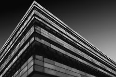 Modern Architecture in Black and White. A long exposure shot of modern architecture in Berlin Stock Photos