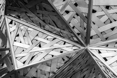 Modern architecture black and white steel, architectural design,. Architecture background concept royalty free stock photo