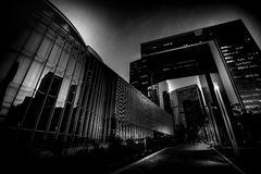 Modern Architecture with Black and White tone tuned. Modern Architecture Black and White tone tuned Royalty Free Stock Photography