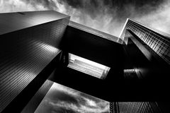 Modern Architecture with Black and White tone tuned Royalty Free Stock Image