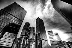 Modern Architecture with Black and White tone tuned. Modern Architecture Black and White tone tuned Stock Image