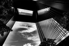 Modern Architecture with Black and White tone tuned. Modern Architecture Black and White tone tuned Royalty Free Stock Images