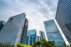 Modern architecture, the bottom view Royalty Free Stock Images