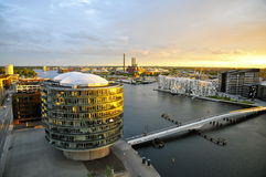 Modern Architecture and the Brygge-Bridge, Sydhavn, Copenhagen Royalty Free Stock Photography
