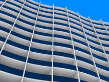 Modern architecture building. Modern building viewed from the bottom up Stock Photos