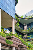 Modern architecture of building balcony in Singapore Stock Image