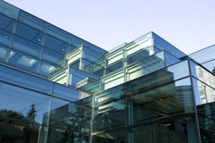 Modern architecture, A building of glass Stock Photography