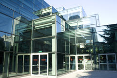 Modern architecture, A building of glass Stock Photos
