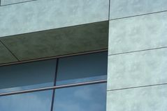 Modern architecture building. Windows glass refflection at beautiful sunny day Royalty Free Stock Photos