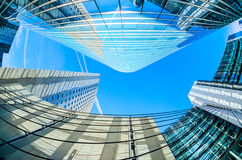 Modern architecture in the business district of La Defense, Pari Stock Photos