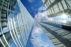 Modern architecture in the business district of La Stock Photo