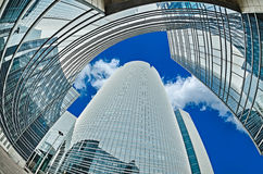 Modern architecture in the business district of La Defense, Pari Stock Image
