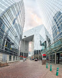 Modern architecture in the business district of La Defense, Pari Royalty Free Stock Photo