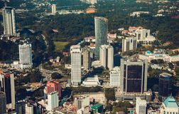 Modern architecture, business office building, cityscape background. Kuala Lumpur skyline. Travel to Malaysia. Urban skyscrapers. Stock Images