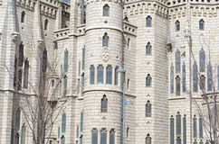 Modern architecture. Castle of Astorga, Leon,  Spain Royalty Free Stock Photo