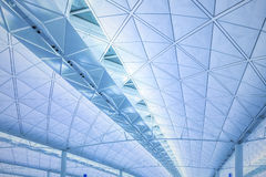 Modern architecture of ceiling in Hong Kong airport. Stock Image