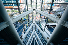 Modern architecture in the CentralWorld Mall, in Bangkok, Thaila. Nd Royalty Free Stock Images