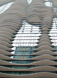 Modern Architecture. A Chicago building with curved balconies and a unique patterned architecture Royalty Free Stock Photo