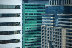 Modern architecture close up with mirror window reflection. Bang Royalty Free Stock Photo