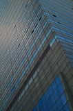 Modern architecture. Closeup view on the gray building from the street Stock Photo