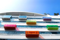 Modern architecture, colorful & bright Stock Photography