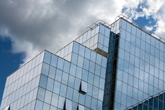 Modern Architecture. The combination of modern materials and colors of the modern business building Stock Photography